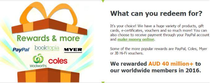 mysurvey Australia rewards